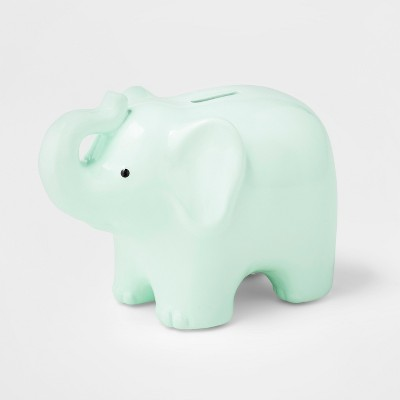 Decorative Coin Bank Elephant - Cloud Island™? Green