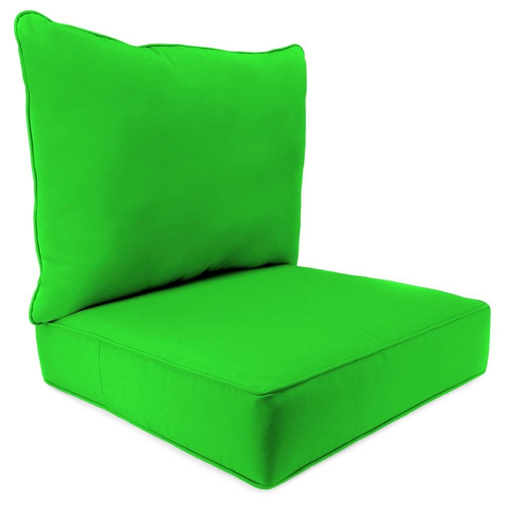 Jordan 2PC Deep Seat Cushion - Sunburst Leaf, Leaf Green