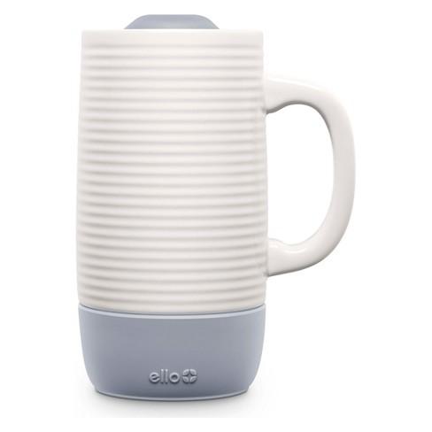Ello Ceramic Jane Travel Gray 18oz Mug SVpqUzM