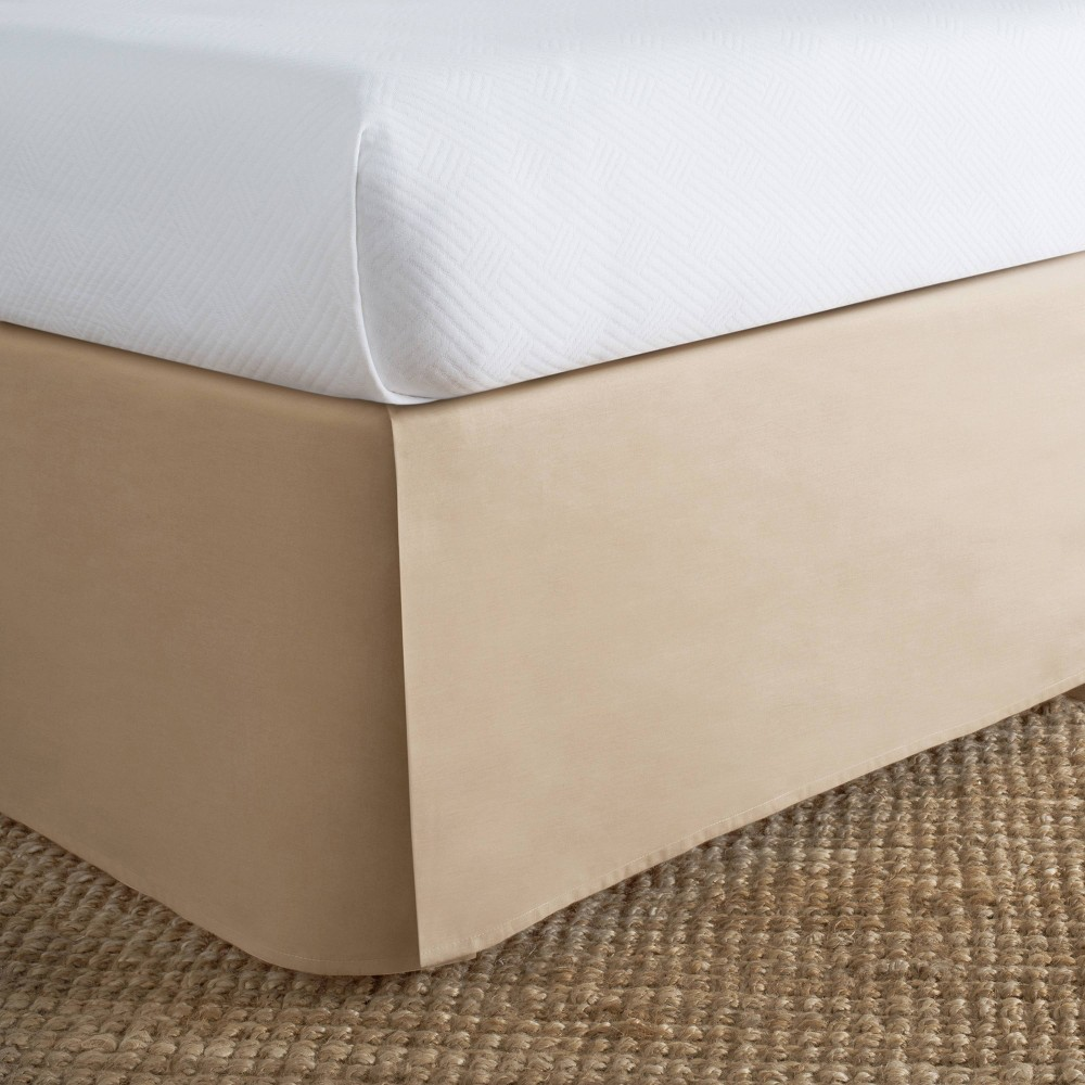 Image of Today's Home California King Cotton Rich Bed Skirt Mocha