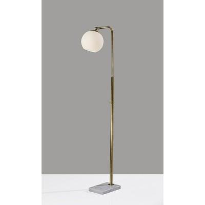 Remi Floor Lamp Antique Brass - Adesso