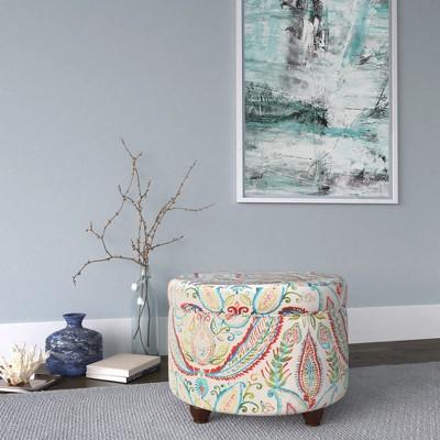 Astounding Storage Ottoman Bold Paisley Homepop Brickseek Alphanode Cool Chair Designs And Ideas Alphanodeonline