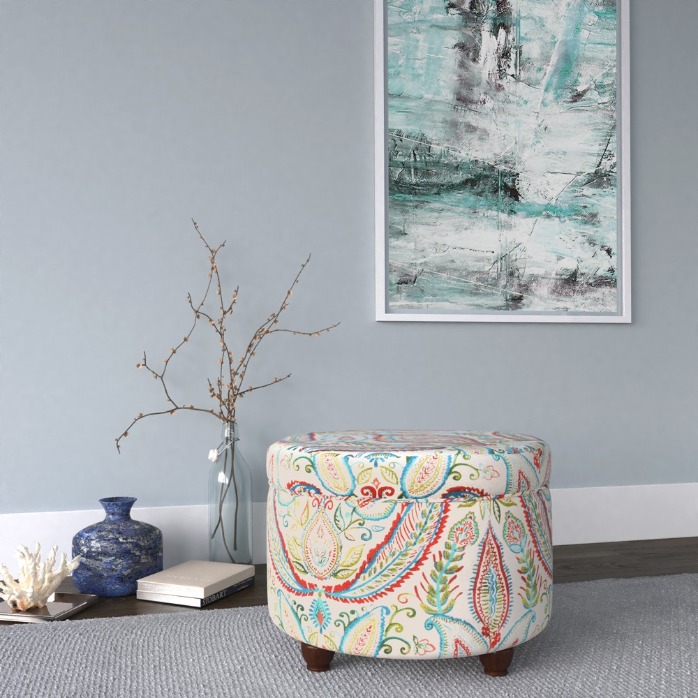 Storage Ottoman - Bold Paisley - HomePop was $109.99 now $82.49 (25.0% off)