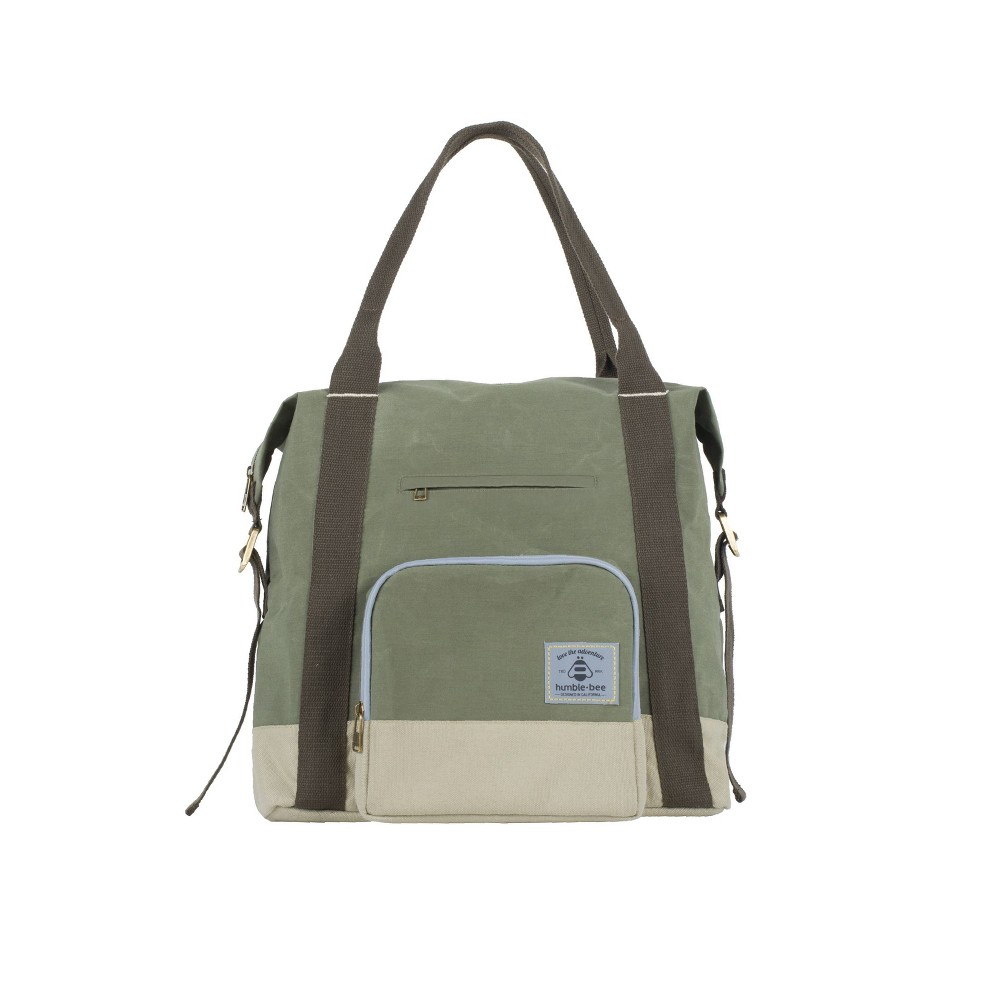 Image of Humble-Bee All Heart Convertible Diaper Bag - Olive Dusk, Green