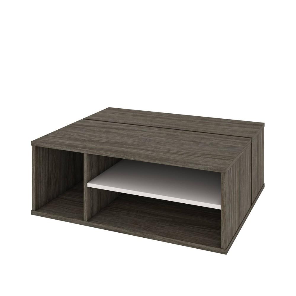 Image of Fom Coffee Table Walnut Gray/Sandstone - Bestar, Brown Gray/Brown