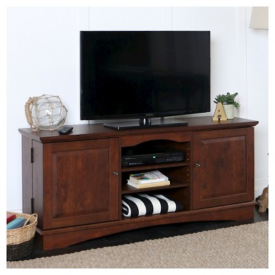 "Modern Media Storage Doors TV Stand for TVs up to 65"" - Saracina Home"