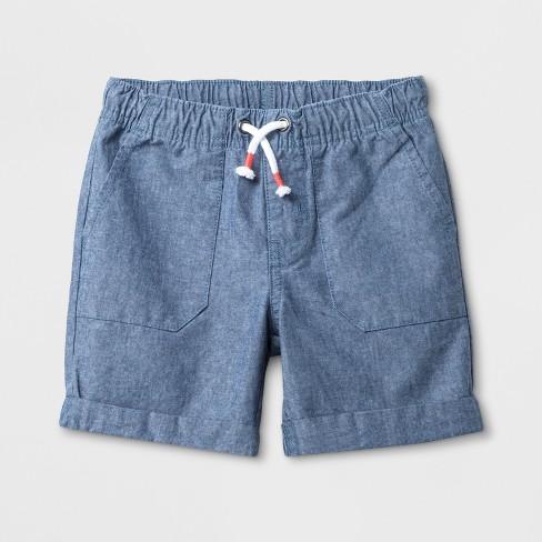 Toddler Boys' Pull-On Shorts - Cat & Jack™ Light Blue - 5T - image 1 of 2