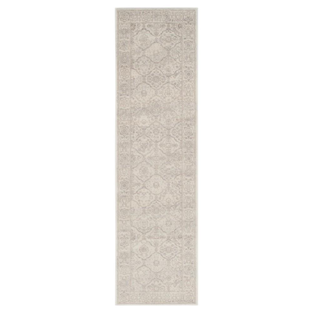 Carnegie Rug - Cream/Light Gray (Ivory/Light Gray) - (2'3X8') - Safavieh