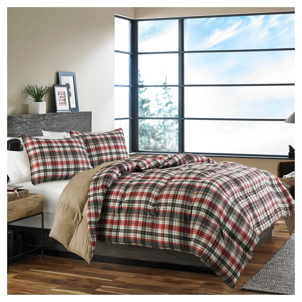 Image of Astoria Comforter And Sham Set (King) - Eddie Bauer, Red