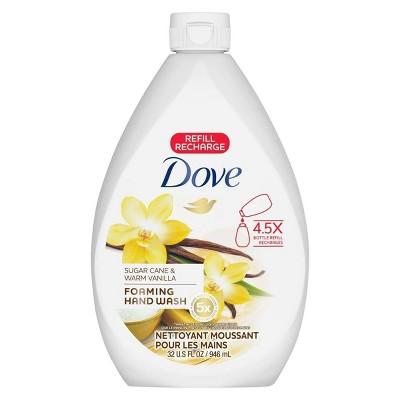 Dove Sugar Cane & Warm Vanilla Foaming Liquid Hand Wash Soap Refill - 32oz