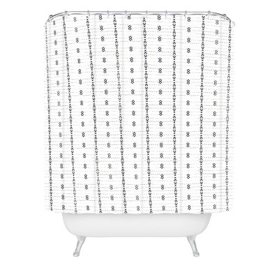 Holli Zollinger Striped Shower Curtain White - Deny Designs