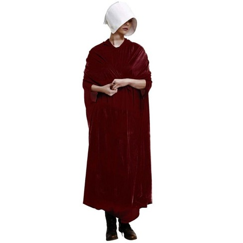 HMS Handmaid's Tale Adult Costume Velour Robe and Hat | Dresses for Women - image 1 of 1