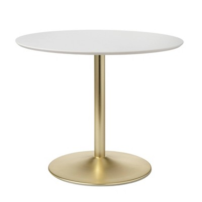 Hillboro Round Dining Table Metal Base - Buylateral
