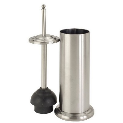Toilet Plunger with Decorated Rim Stainless Steel - Bath Bliss