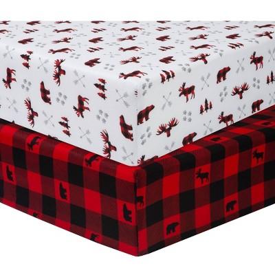 Sammy & Lou Lumberjack Microfiber Crib Sheet - 2pk