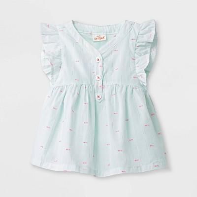 Baby Girls' SS Stripe Tunic - Cat & Jack™ Mint 0-3M