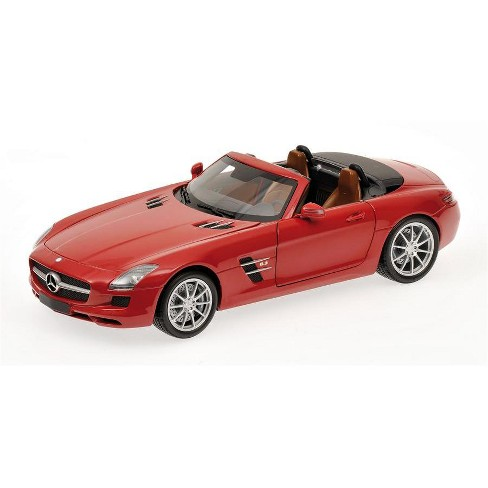 2011 Mercedes SLS AMG Roadster Red 1/18 Diecast Model Car by Minichamps - image 1 of 4