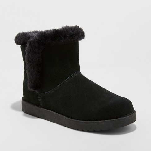 Women's Bellina Suede Short Winter Boots - Universal Thread™ - image 1 of 3