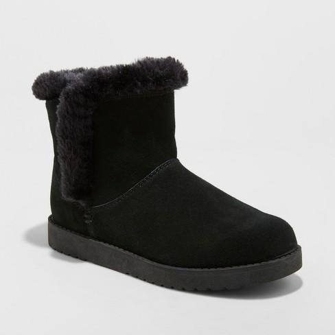 2d305036e2c6 Women s Bellina Suede Short Winter Boots - Universal Thread™   Target