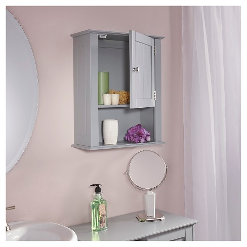 Ashland Collection Single Door Wall Cabinet Gray Riverridge
