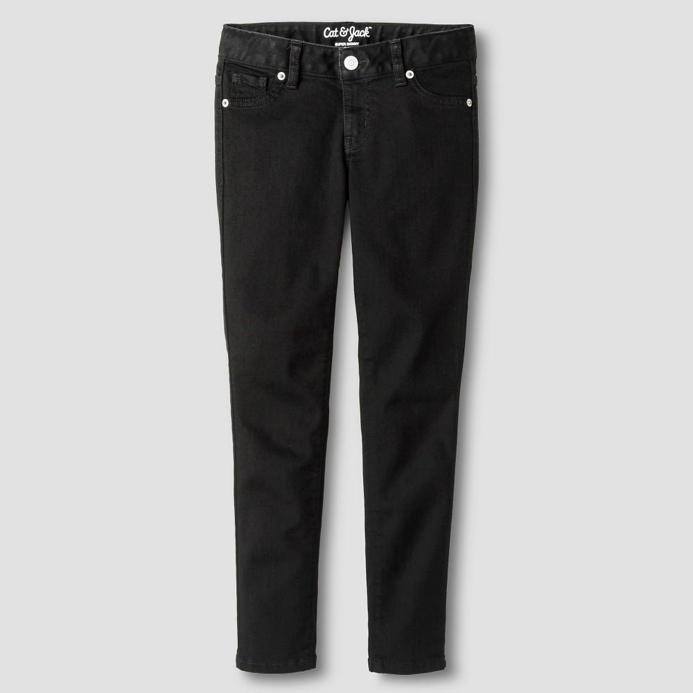 Girls' Super Skinny Jeans - Cat & Jack Black 7 Slim
