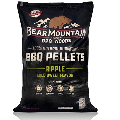 Bear Mountain BBQ FK12 Premium All-Natural Hardwood Mild and Sweet Apple BBQ Smoker Pellets for Outdoor Grills, 20 lbs