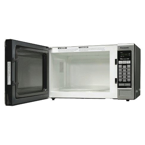 Panasonic Silver 1 2 Cu Ft 1200 Watt Microwave Oven Stainless Steel