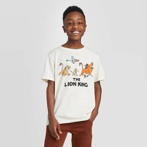 Boys' Lion King T-Shirt - Cream - image 1 of 4