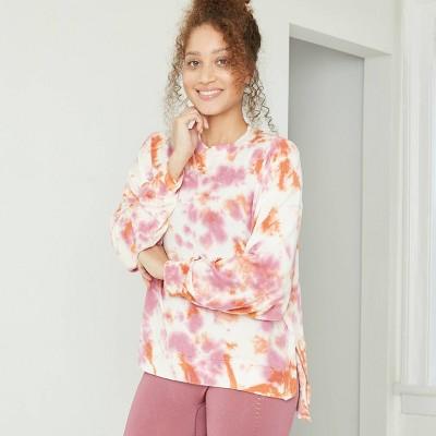 Women's Cozy Long Sleeve Sweatshirt - JoyLab™ White Meteor L