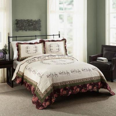 Modern Heirloom Full/Queen Brooke Quilt Set Ivory
