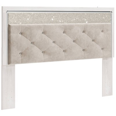 King/California King Altyra Upholstered Panel Headboard White - Signature Design by Ashley