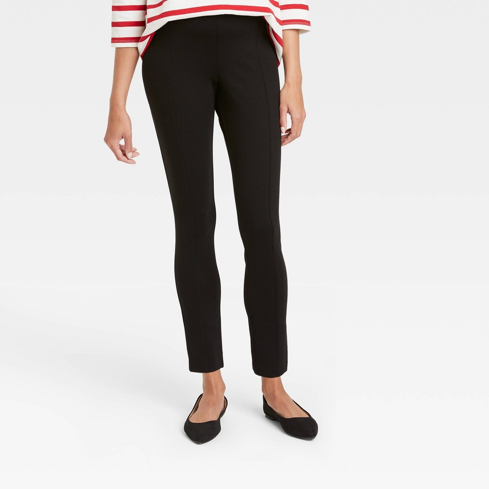 The Nines By Hatch 8482 Maternity Skinny Ponte Pull On Pants Black M