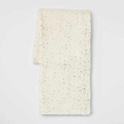 60 x50  Metallic Knit Throw Blanket Cream/Gold - Threshold™