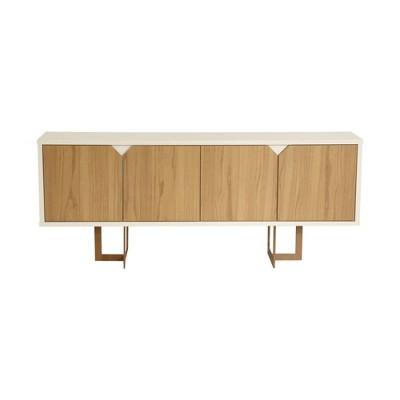 "71.25"" Knickerbocker Sideboard Cinnamon/Off White - Manhattan Comfort"