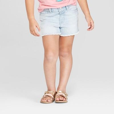 Toddler Girls' Release Hem Jean Shorts - Cat & Jack™ Light Blue 5T