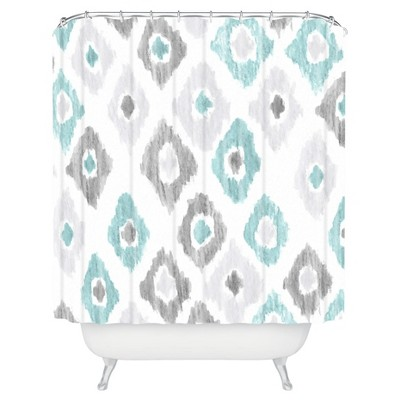 Quiet Ikat Shower Curtain Gray - Deny Designs