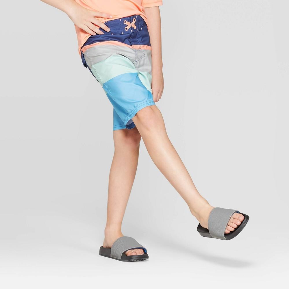 Image of Boys' Diagonal Stripe Swim Trunks - art class Blue 10, Boy's