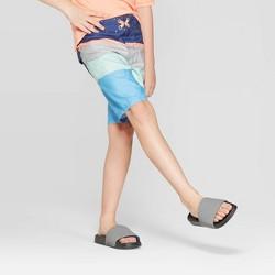 Boys' Diagonal Stripe Swim Trunks - art class™ Blue