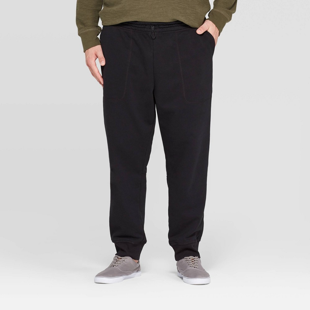 Men's Tall 31.5 Jogger Pants - Goodfellow & Co Black XLT, Men's was $24.99 now $17.49 (30.0% off)