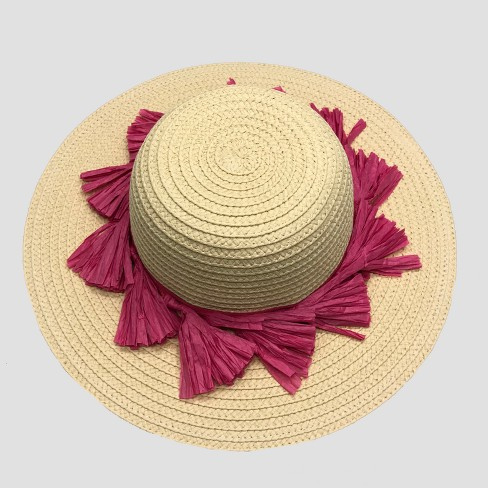 Baby Girls' Floppy Hat - Cat & Jack™ Natural 12-24M - image 1 of 1