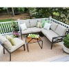 Blakely 5pc Patio Seating Set with Sunbrella Fabric - Tan - Leisure Made - image 4 of 7