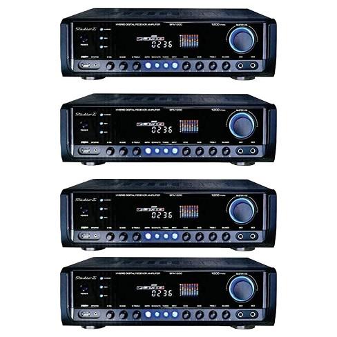 Studio Z Digital Home Audio Hybrid Radio Receiver 2 Channel Amplifier (4 Pack) - image 1 of 4