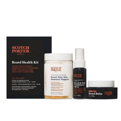 Scotch Porter Immunity Boost Beard Health Kit - 3ct