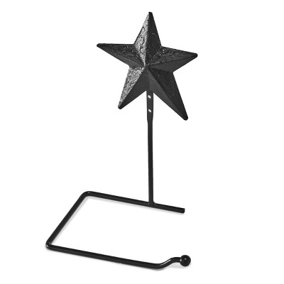 Lakeside Metal Barn Star Wall Toilet Paper Holder with Distressed Vintage Style