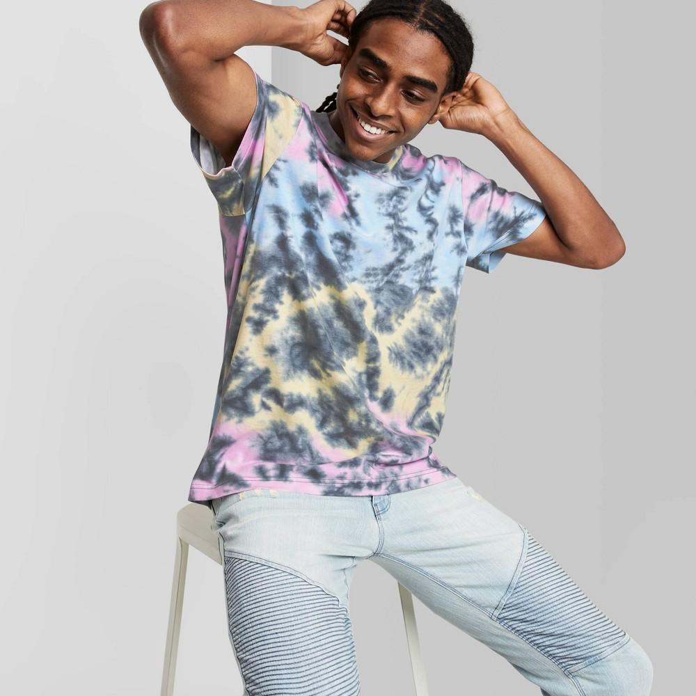 Men 39 S Tie Dye Regular Fit Short Sleeve Crewneck T Shirt Original Use 8482 Pink Tie Dye Design S