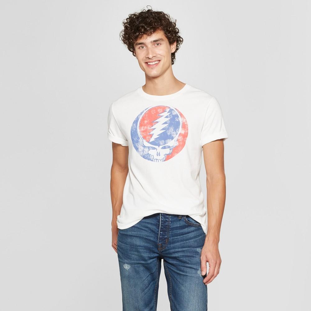Junk Food Men's Grateful Dead Long Sleeve Graphic T-Shirt - White 2XL