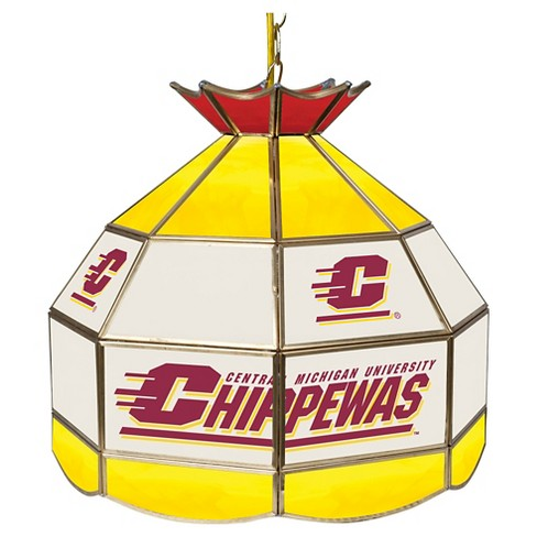 "NCAA Central Michigan Chippewas Stained Glass Tiffany Lamp - 16"" - image 1 of 1"