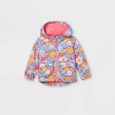 Toddler Girls' Floral Print Windbreaker Jacket - Cat & Jack™ Pink