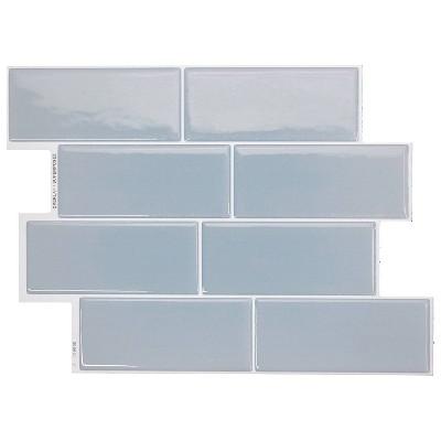 "Smart Tiles 3D Peel and Stick Backsplash 4 Sheets of 11.56"" x 8.38"" Kitchen and Bathroom Wallpaper Metro Babe"