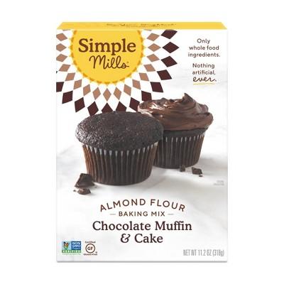 Simple Mills Gluten Free Chocolate Muffin & Cake Almond Flour Baking Mix - 11.2oz